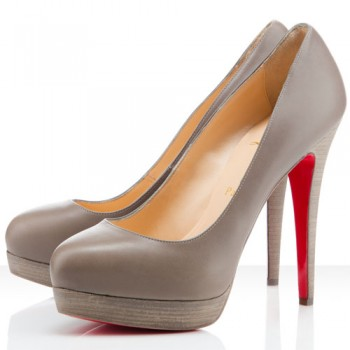 Replica Christian Louboutin Bianca 160mm Platforms Taupe Cheap Fake Shoes