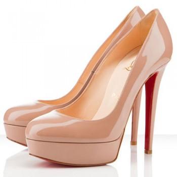 Replica Christian Louboutin Bianca 140mm Platforms Nude Cheap Fake Shoes