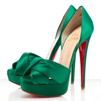 Replica Christian Louboutin Volpi 140mm Sandals Emeraude Cheap Fake Shoes
