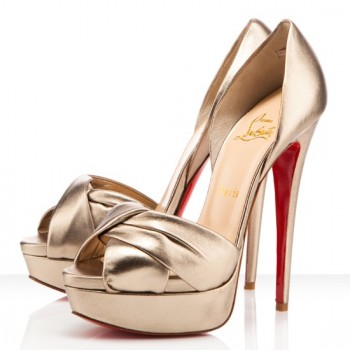 Replica Christian Louboutin Volpi 140mm Sandals Platine Cheap Fake Shoes