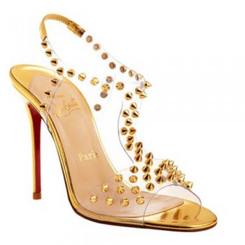 Replica Christian Louboutin J-Lissimo 100mm Sandals Gold Cheap Fake Shoes