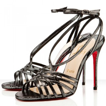 Replica Christian Louboutin Beverly 100mm Sandals Black Cheap Fake Shoes