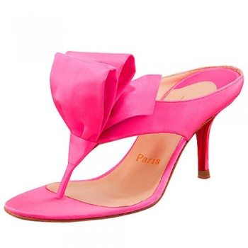 Replica Christian Louboutin Tulp Thong 80mm Sandals Pink Cheap Fake Shoes