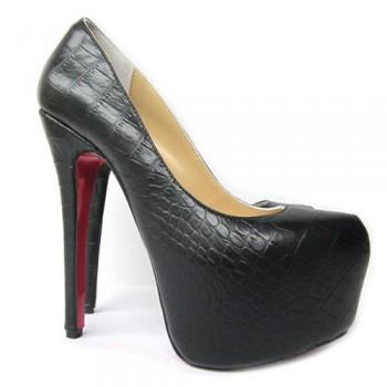 Replica Christian Louboutin Daffodile 160mm Platforms Black Cheap Fake Shoes