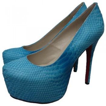 Replica Christian Louboutin Daffodile 160mm Platforms Blue Cheap Fake Shoes