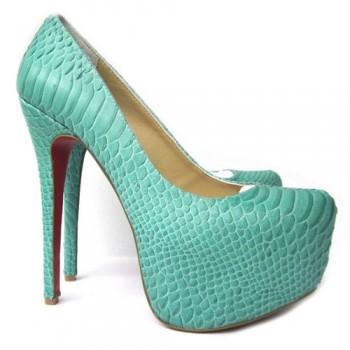 Replica Christian Louboutin Daffodile 160mm Platforms Green Cheap Fake Shoes