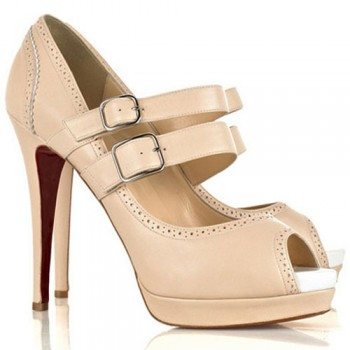 Replica Christian Louboutin Luly 140mm Mary Jane Pumps Pink Cheap Fake Shoes
