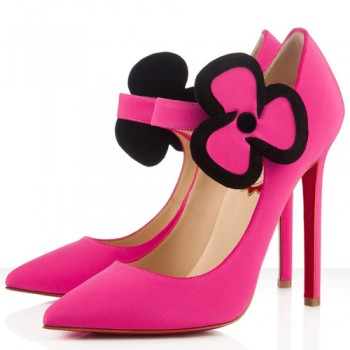 Replica Christian Louboutin Pensee 120mm Mary Jane Pumps Rose Matador Cheap Fake Shoes