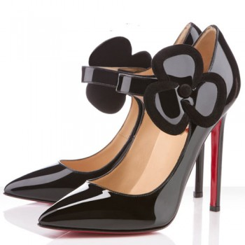 Replica Christian Louboutin Pensee 120mm Mary Jane Pumps Black Cheap Fake Shoes