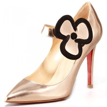 Replica Christian Louboutin Pensee 100mm Mary Jane Pumps Nude Cheap Fake Shoes