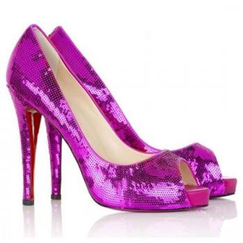 Replica Christian Louboutin Very Prive 120mm Peep Toe Pumps Parme Cheap Fake Shoes