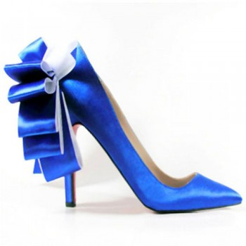 Replica Christian Louboutin Anemone 120mm Special Occasion Blue Cheap Fake Shoes