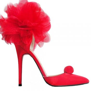 Replica Christian Louboutin Eugenie 120mm Special Occasion Red Cheap Fake Shoes