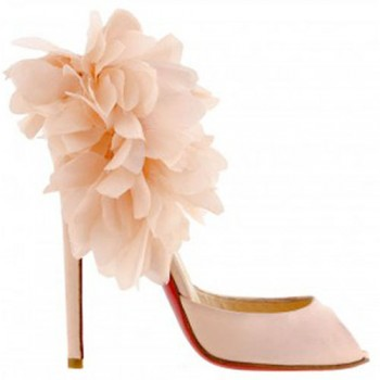 Replica Christian Louboutin Carnaval 120mm Special Occasion Pink Cheap Fake Shoes
