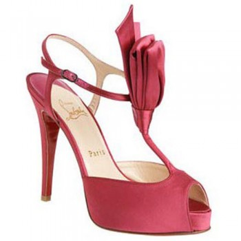 Replica Christian Louboutin Ernesta T-strap 100mm Special Occasion Pink Cheap Fake Shoes