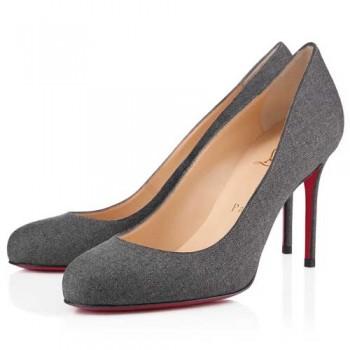Replica Christian Louboutin Fifi 80mm Pumps Light Grey Cheap Fake Shoes