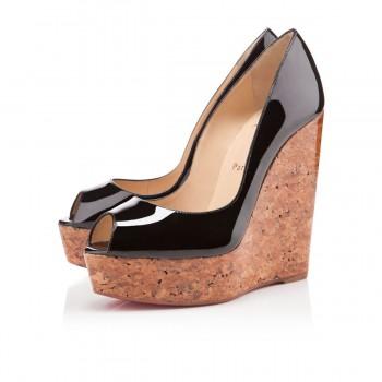 Replica Christian Louboutin Uue Plume 140mm Wedges Black Cheap Fake Shoes