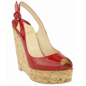 Replica Christian Louboutin Uue Plume 140mm Wedges Red Cheap Fake Shoes