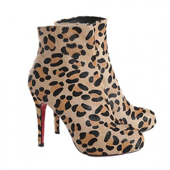 Replica Christian Louboutin Alta Ariella 120mm Ankle Boots Leopard Cheap Fake Shoes