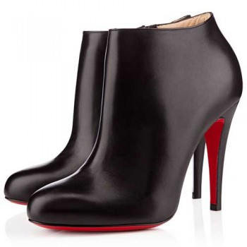 Replica Christian Louboutin Belle 100mm Ankle Boots Black Cheap Fake Shoes