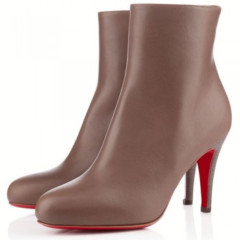 Replica Christian Louboutin Bello 80mm Ankle Boots Taupe Cheap Fake Shoes