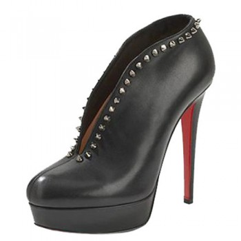 Replica Christian Louboutin Miss Fast Plato 120mm Ankle Boots Black Cheap Fake Shoes