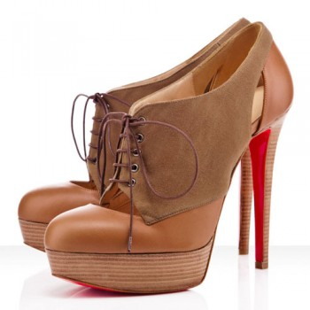 Replica Christian Louboutin Gilet 140mm Ankle Boots Camel Cheap Fake Shoes