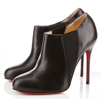 Replica Christian Louboutin Lastoto 100mm Ankle Boots Black Cheap Fake Shoes