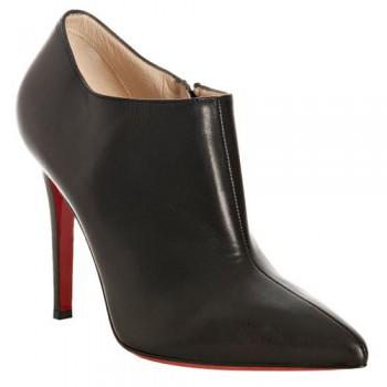 Replica Christian Louboutin Dahlia 100mm Ankle Boots Black Cheap Fake Shoes
