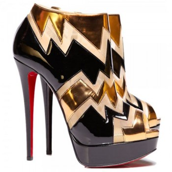 Replica Christian Louboutin Ziggy 140mm Ankle Boots Black Cheap Fake Shoes