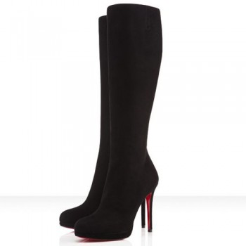 Replica Christian Louboutin New Simple Botta 120mm Boots Black Cheap Fake Shoes