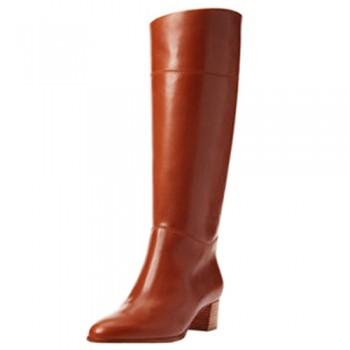 Replica Christian Louboutin Tuba 80mm Boots Brown Cheap Fake Shoes