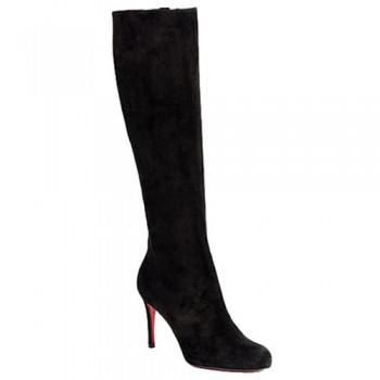 Replica Christian Louboutin Simple Botta 100mm Boots Black Cheap Fake Shoes