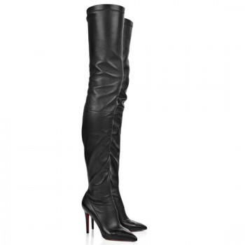 Replica Christian Louboutin Lili 100mm Boots Black Cheap Fake Shoes