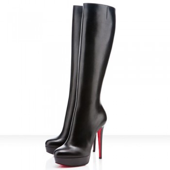 Replica Christian Louboutin BiancaBotta 140mm Boots Black Cheap Fake Shoes