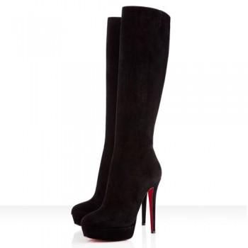 Replica Christian Louboutin BiancaBotta 140mm Boots Black Cheap Fake Shoes
