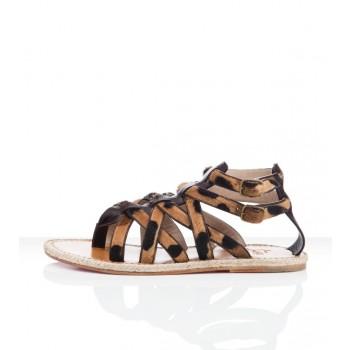 Replica Christian Louboutin Hola nina Flat Sandals Leopard Cheap Fake Shoes