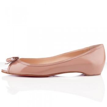 Replica Christian Louboutin Milady Ballerinas Nude Cheap Fake Shoes