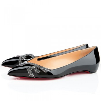 Replica Christian Louboutin Pigalove Ballerinas Black Cheap Fake Shoes
