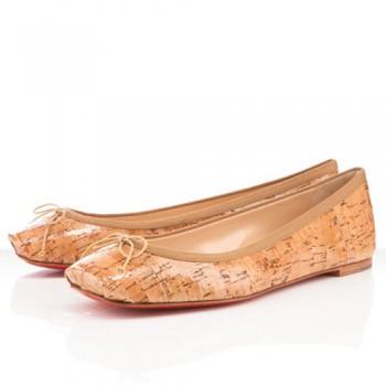 Replica Christian Louboutin Rosella Ballerinas Natural Cheap Fake Shoes