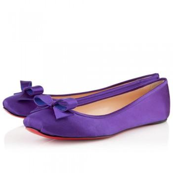 Replica Christian Louboutin Boudoir Satin Ballerinas Parme Cheap Fake Shoes