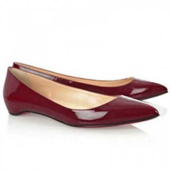 Replica Christian Louboutin Pigalle Ballerinas Red Cheap Fake Shoes