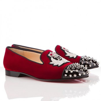 Replica Christian Louboutin Intern Loafers Red Cheap Fake Shoes