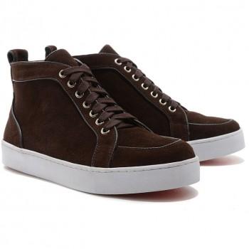Replica Christian Louboutin Rantus Orlato Sneakers Brown Cheap Fake Shoes