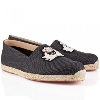Replica Christian Louboutin Papi Hugo Sandals Grey Cheap Fake Shoes