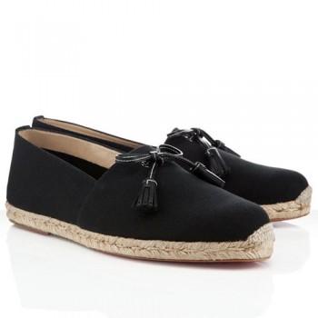 Replica Christian Louboutin Papiounet Sandals Black Cheap Fake Shoes