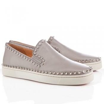 Replica Christian Louboutin Pik Boat Sandals Light Blue Cheap Fake Shoes