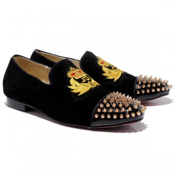 Replica Christian Louboutin Harvanana Loafers Black Cheap Fake Shoes
