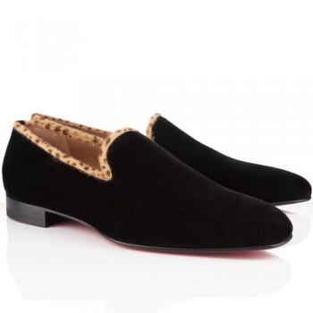 Replica Christian Louboutin Dandy Loafers Brown Cheap Fake Shoes