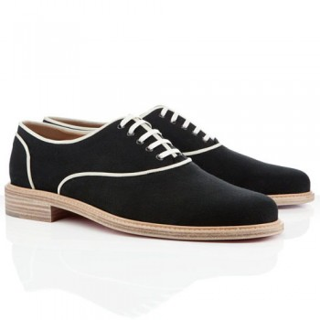 Replica Christian Louboutin Alfred Loafers Black Cheap Fake Shoes